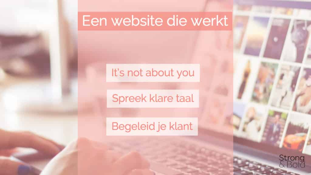 Website die werkt - Strong and Bold marketing